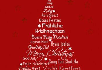 albero di natale in tutte le lingue del mondo